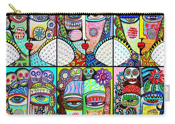 Silberzweig Day Of The Dead Rainbow Angels Carry-all Pouch