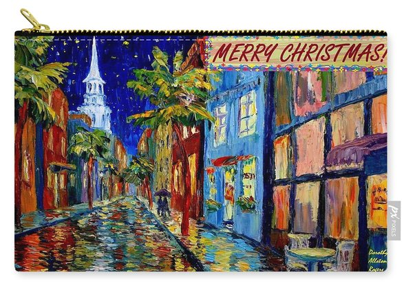 Silent Night Christmas Card Carry-all Pouch