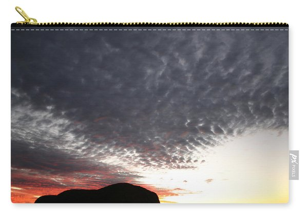 Silhouette Of Uluru At Sunset Carry-all Pouch