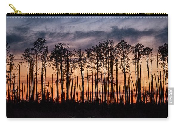 Silhouetted Sunset Carry-all Pouch