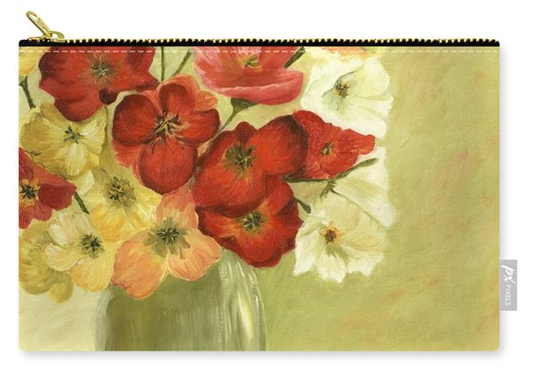 Silk Flowers Carry-all Pouch