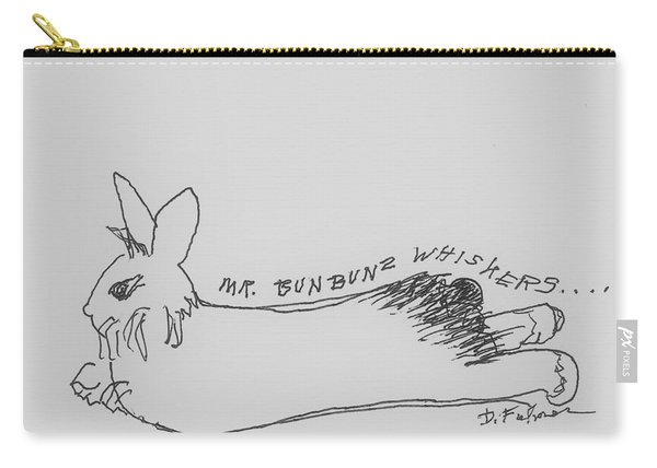 Silly Sketch Of Mr. Whiskers Carry-all Pouch
