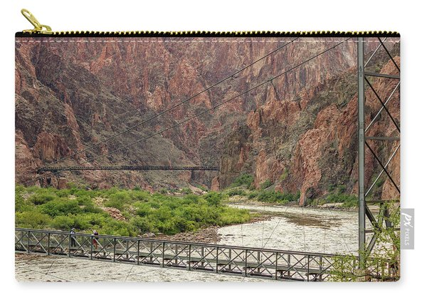 Silver And Black Bridges Over The Colorado, Grand Canyon Carry-all Pouch