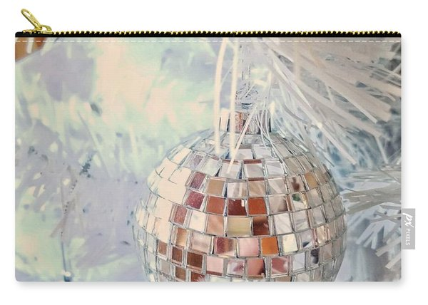 Silver And White Christmas Carry-all Pouch