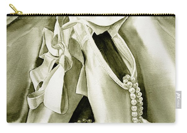 Silver Ballet Shoes Carry-all Pouch