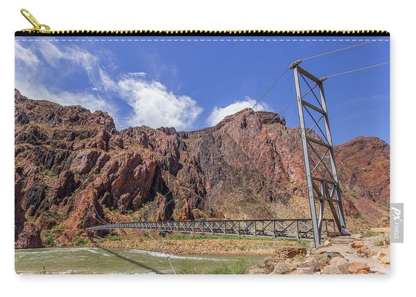 Silver Bridge Over Colorado River - At The Bright Angel Trail Carry-all Pouch