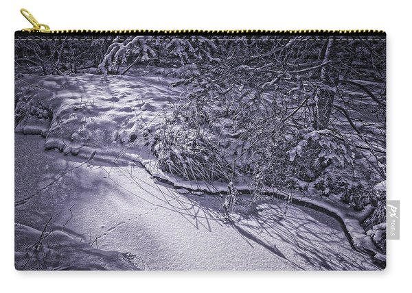 Silver Brook In Winter Carry-all Pouch