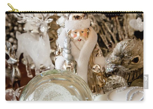 Silver Christmas Carry-all Pouch
