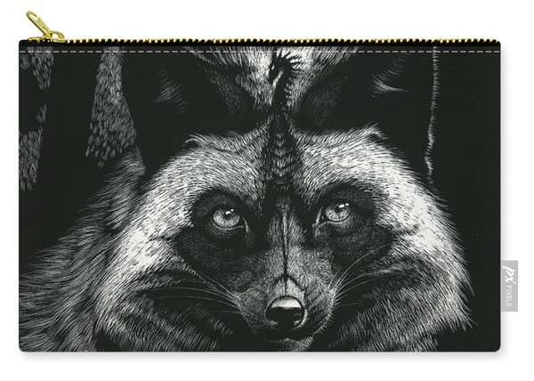 Silver Dragon Fox Carry-all Pouch