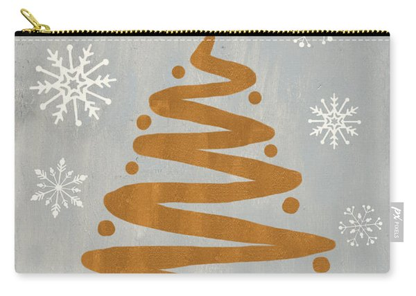 Silver Gold Tree Carry-all Pouch