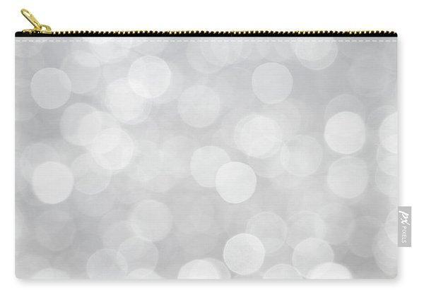 Silver Grey Bokeh Abstract Carry-all Pouch