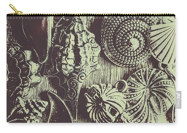Silver Sea Abstract Carry-all Pouch