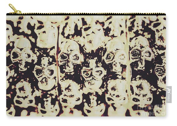 Silver Skull Art Carry-all Pouch