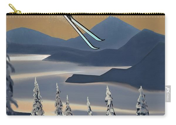 Silver Star Ski Poster Carry-all Pouch