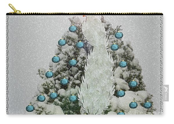 Silver Winter Bird Carry-all Pouch