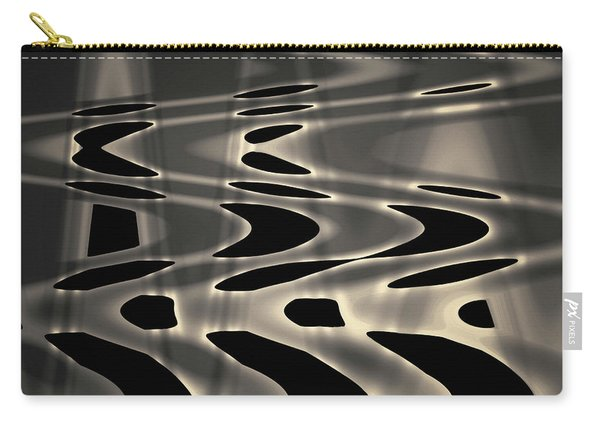 Silvery Abstraction Toned  Carry-all Pouch
