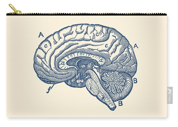 Simple Brain Diagram - Anatomy Poster Carry-all Pouch