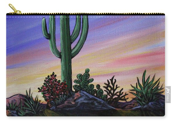 Simple Desert Sunset Two Carry-all Pouch