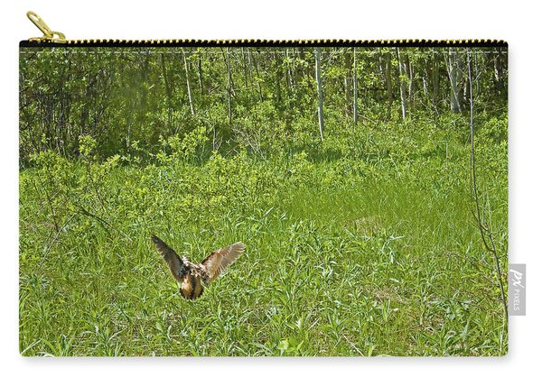 Simulating Wounded Bird To Distract Predators From Her Chicks. Carry-all Pouch
