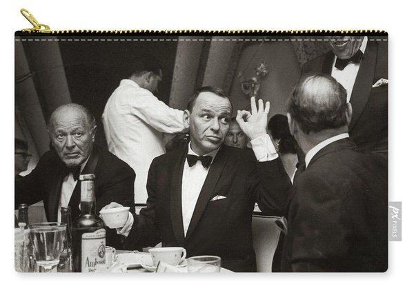 Sinatra And Ed Sullivan At The Eden Roc - Miami - 1964 Carry-all Pouch