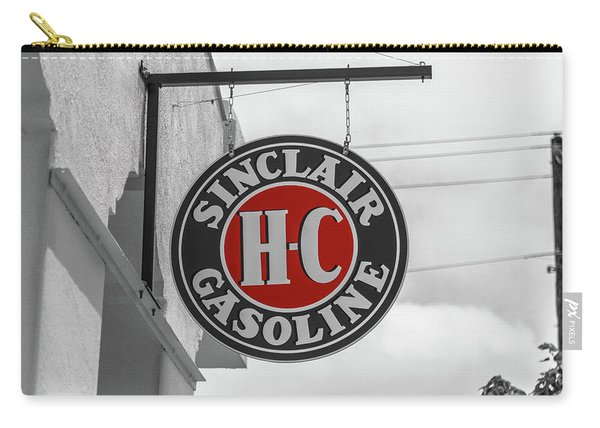 Sinclair Gasoline Round Sign In Selective Color Carry-all Pouch