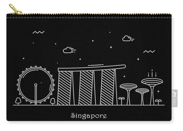 Singapore Skyline Travel Poster Carry-all Pouch