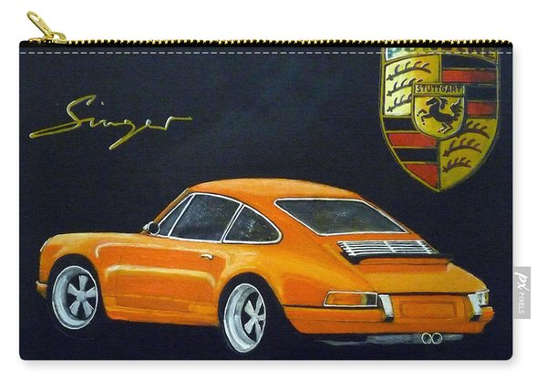 Carry-all Pouch featuring the painting Singer Porsche by Richard Le Page