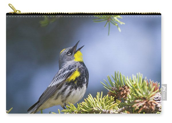 Singing Audubon's Warbler Carry-all Pouch