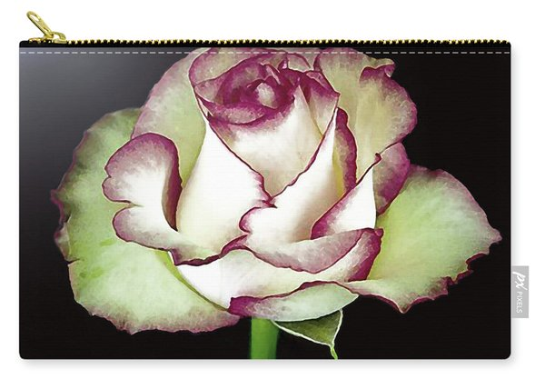 Single Beautiful Rose Carry-all Pouch