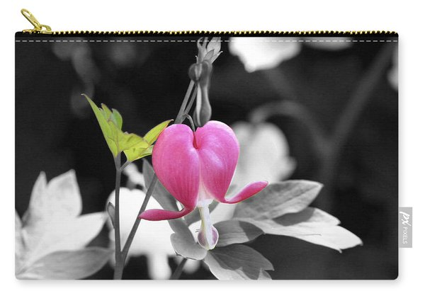Single Bleeding Heart Partial Carry-all Pouch