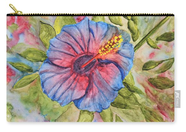 Single Hibiscus Carry-all Pouch