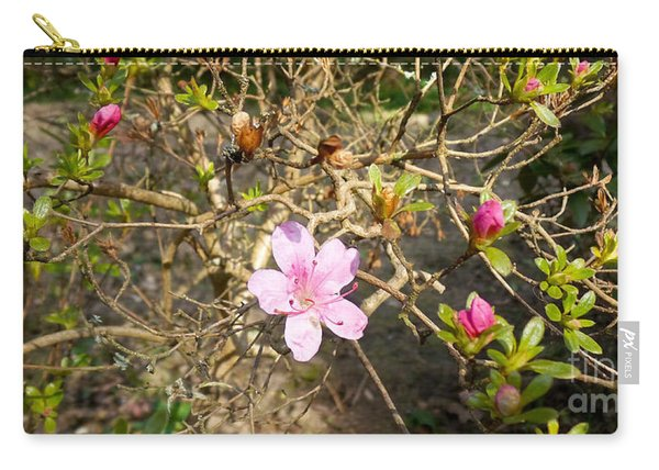Single Pink Bloom Bush Carry-all Pouch