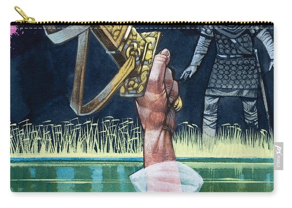 Sir Bedivere Returns Excalibur To The Lady Of The Lake Carry-all Pouch