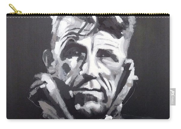 Carry-all Pouch featuring the painting Sir Edmund Hillary by Richard Le Page