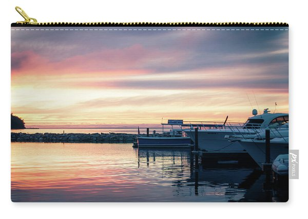 Sister Bay Marina At Sunset Carry-all Pouch