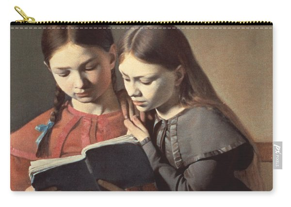 Sisters Reading A Book Carry-all Pouch