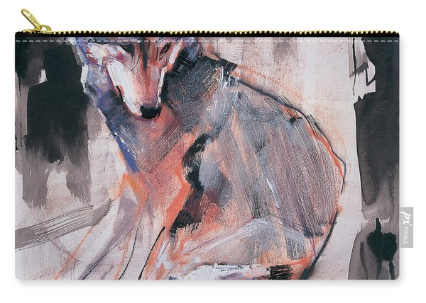 Sitting Wolf Carry-all Pouch