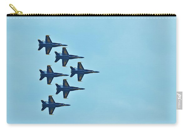 Six Blue Angels In The Clear Blue Sky Carry-all Pouch