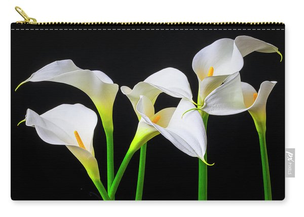 Six Calla Lilies Carry-all Pouch