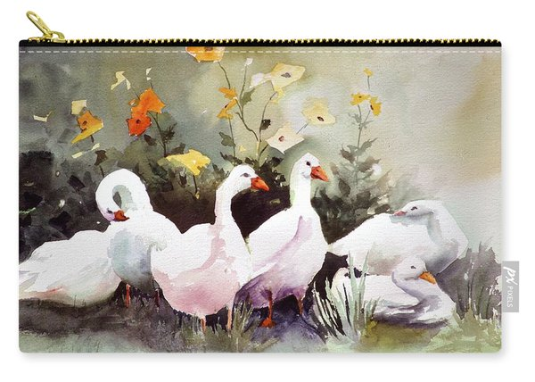 Six Quackers Carry-all Pouch