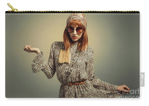 Sixties Retro Hippy Chick Carry-all Pouch