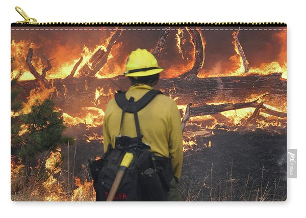 Carry-all Pouch featuring the photograph Legion Lake Fire by Bill Gabbert