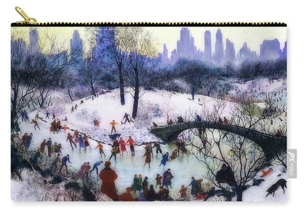 Skating In Central Park Carry-all Pouch