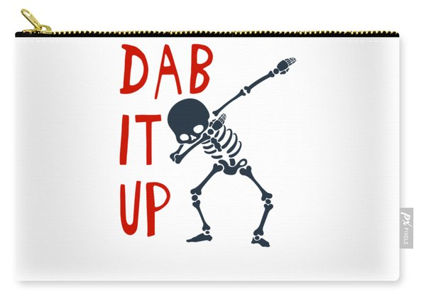 Skelleton Halloween Dabbing Funny Humor Easy Costume Dab It Up Everywhere Kids Children Dabbing Offi Carry-all Pouch