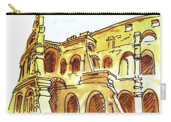 Sketching Italy Rome Colosseum Ruins Carry-all Pouch