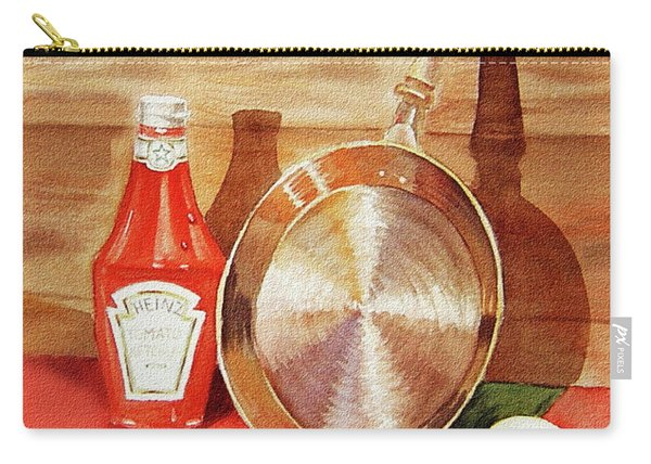 Skillet Eggs And Heinz Ketchup Watercolor  Carry-all Pouch