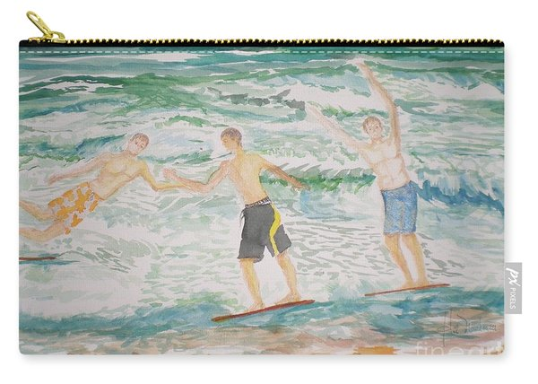 Skim Boarding Daytona Beach Carry-all Pouch