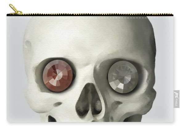 Skull And Bird Carry-all Pouch