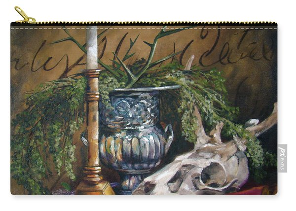 Skull And Candle Carry-all Pouch