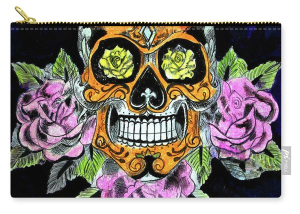 Satan's Sugar Skull - Original Art Work Carry-all Pouch